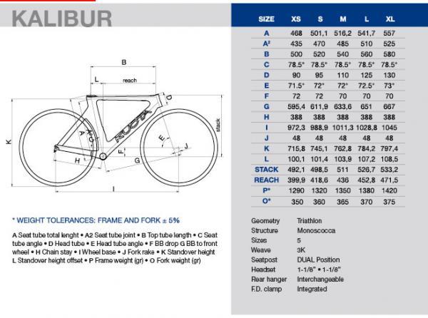 Extrêmement Cadre kuota KALIBUR taille XL marque Kuota - duvelo.com vélos  BK33