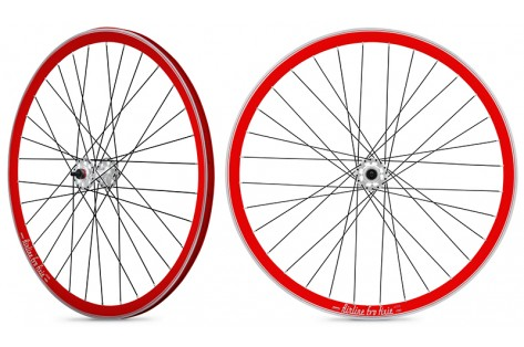Roues fixies rouge